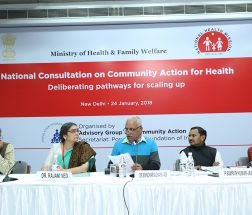 Dr Manohar Agnani Chairing the Session on Community Action and Accountability