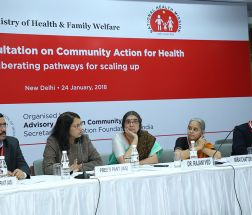 Ms Preeti Pant, Joint Secretary, NUHM, MoHFW responding queries to audience in a question-answer session